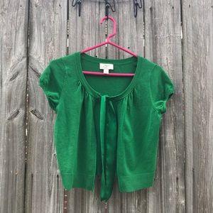 Loft Crop Cap Sleeve Cardigan